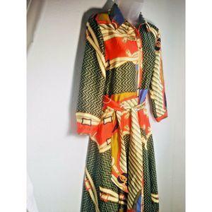 Zara NWT Women's M Scarf Chain Dress